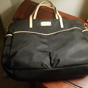 Kate Spade black can as tote